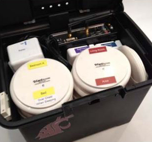 WSU's Smart Home in a Box is relatively compact and easy to install.