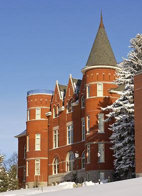 Thompson Hall in winter