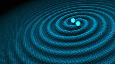 An artist's impression of gravitational waves generated by binary neutron stars/Credit: NASA