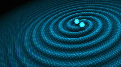 An artist's impression of gravitational waves generated by binary neutron stars/Credit: NASA