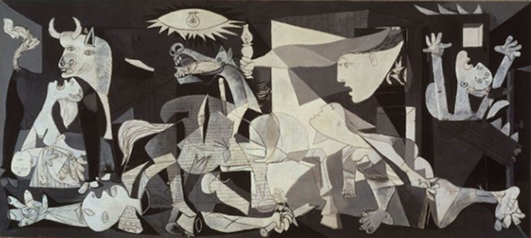 By PICASSO, la exposición del Reina-Prado. Guernica is in the collection of Museo Reina Sofia, Madrid, via Wikipedia.