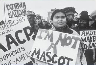 Detail from cover of King's 2001 book 'Team Spirits: The History and Significance of the Native American Mascots Controversy'