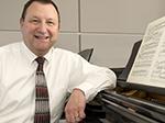 Gerald Berthiaume at the piano