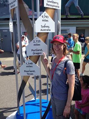 Alair MacLean at the 2015 Little League World Series in Williamsport, Penn., where her son pitched for the Northwest Champion team from Oregon.