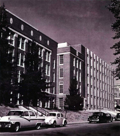 A six-story addition to Fulmer Hall, including additional teaching spaces and research laboratories, was completed in 1961.