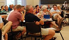 MMRE Summer Institute teachers listen to a presentation by WSU faculty