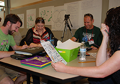 Teachers tackle the campus map treasure hunt assignment