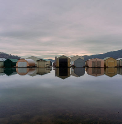 Detail of Boathouses, Heyburn State Park, Idaho, archival pigment print, 30x40, 2015