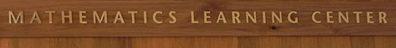 Math Learning Center sign