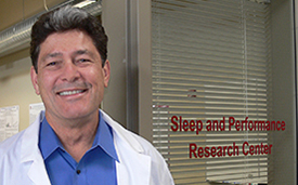 Bryan Vila at the Sleep and Performance Research Center at WSU Spokane. Photo by Judith van Dongen.