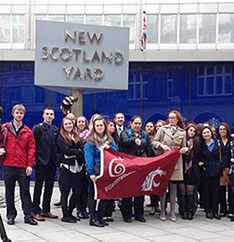 Cougs at New Scotland Yard in London