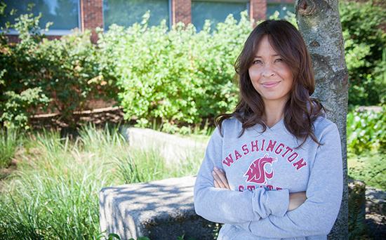 Amber Heckelman. Photo by Laura Evancich, WSU Vancouver.