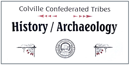 """sign says """"Colville Confederated Tribes History Archaeology"""""""