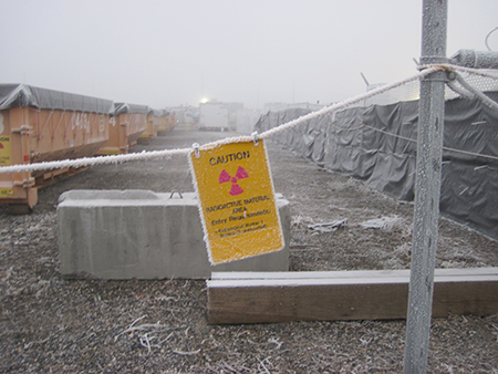 Radioactive waste from Hanford's 209-E Criticality Facility awaits disposal.