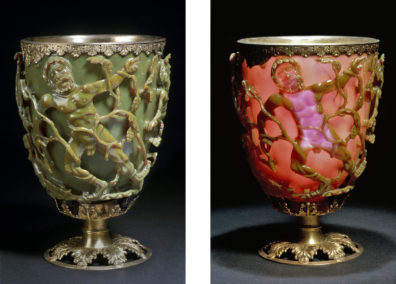 The Lycurgus Cup. Photos from The British Museum