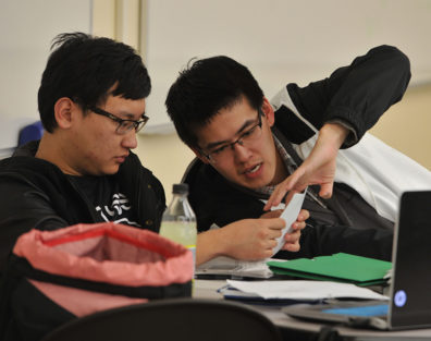 Students in the Math Learning Center