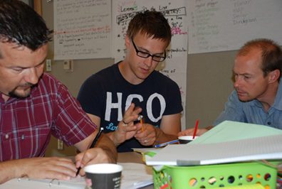 Mornings at the MMRE Summer Institute include team-based learning events.