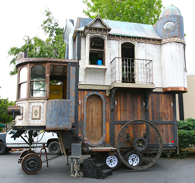 The 'Neverwas Haul,' a steampunk-styled mobile home. (Photo: Scott Beale Laughing Squid)
