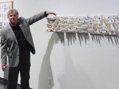Chris Watts discusses one of his 3-dimensional works.