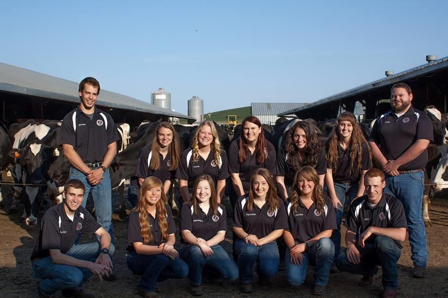 Cooperative University Dairy Students 2016