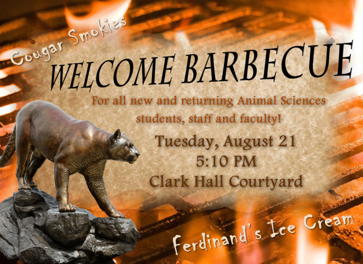 Animal Sciences Welcome BBQ 2018