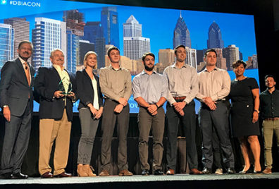 WSU students accept winning award at 2017 Design Build Institute of America conference
