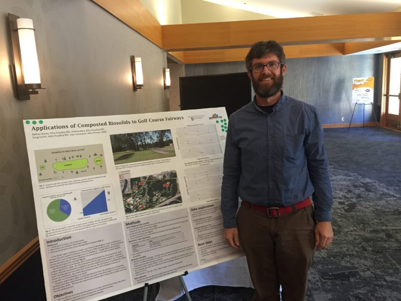 Nathan Stacey is pursuing his Ph.D at the WSU Puyallup Research and Extension Center