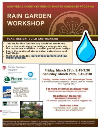 Flyer for Rain Garden Workshop