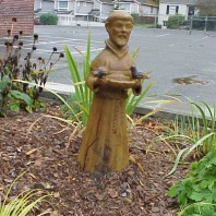 St. Francis in the garden.