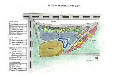 The design proposal for the site.
