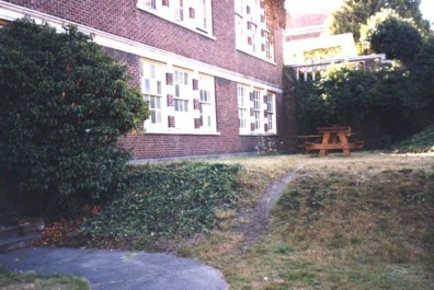 The site prior to renovation (lower terrace).