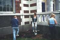 Preparing planting beds (May 20, 1999).