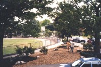 The finished triangle: aerial view (May 1999)
