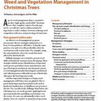 Weed and Vegetation Management in Christmas Trees