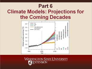 Climate Change Science Slideshow Part 6 - Climate Models: Projections for the Coming Decades