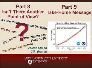 Climate Change Science Slideshow Parts 8 and 9 - Isn't There Another Point of View? Take Home Message (Summary).