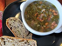 Black-eyed Pea & Ham Soup with Greens