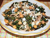 Chard with Garlicky Garbanzos