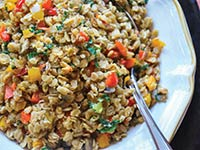 Oat and Pepper Pilaf