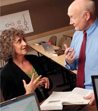 Professor Hal Rumsey with student Linda Josephson