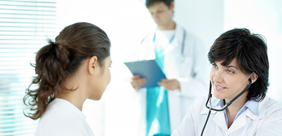 Medical personnel consulting