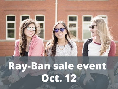 Ray-Ban sale event Oct. 12