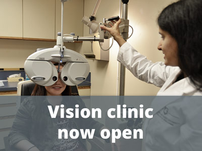 Vision clinic now open
