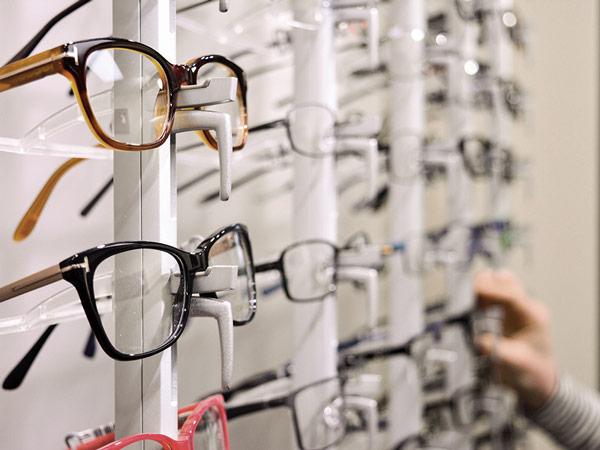 Glasses up close