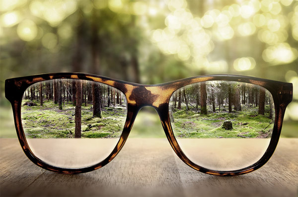 Glasses close up