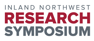 Graphic that says 'Inland Northwest Research Symposium' in crimson and gray colors