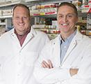 Researchers Jason Gerstner and William Vanderheyden in their lab at the Spokane campus