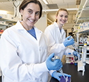 Image showing Lucia Peixoto and Taylor Wintler in the lab