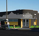 Computer rendering of the Sprague Avenue building in Spokane that will be home to the Gleason Institute in late 2019