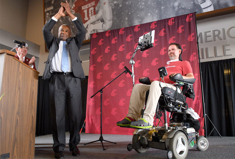Steve Gleason and Ron Sims